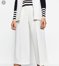 Zara White Culotte Trousers with Slits Toronto, M4Y 1X5