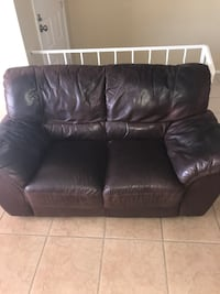 black leather 2-seat sofa Scottsdale, 85251