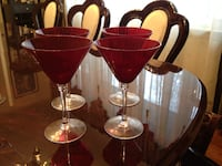 Four Red Martini glass Rockville, 20850
