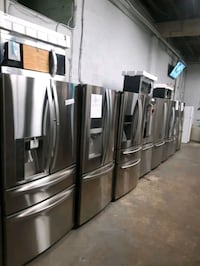 $499.00 & UP STAINLESS STEEL FRENCH DOORS FRIDGES WORKING PERFECTLY