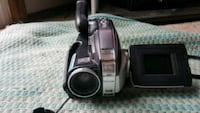 black and gray camcorder
