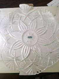 "J.G. Durant Crystal platter France 12"". New .$50 value Valley Stream, 11581"