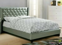 Queen Silver Bed with Mattress. New! Free delivery Hollywood, 33023