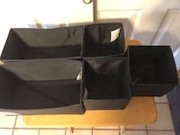 """5 Drawer Dividers/Organizers, Black/Brown """"Komplement"""" from Ikea 3-6x6x5""""H  Baltimore, 21236"""