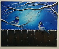 30x24 inches Blue Jays acrylic painting  Waterloo, N2L