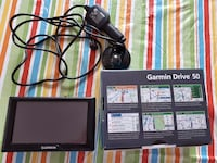 black Garmin Drive 50 with box