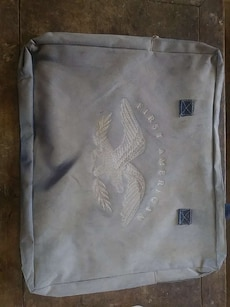 gray First American zip bag