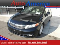 2012 *Honda* *Civic* EX 4dr Sedan sedan Black Monroe