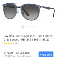 *Brand New*Never Worn* unisex Blue Ray Bans. Tampa, 33612