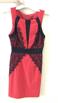 Size 5 red and black lace dress Ellicott City, 21042