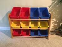 blue, red, and yellow plastic toy organizer Cookeville, 38506