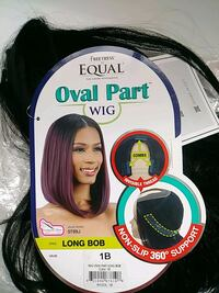 Oval part syn black long Bob wig Mississauga, L5M 3R9