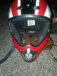 red and black motorcycle helmet Red Deer, T4R 2M9