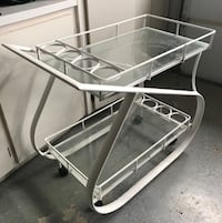 white metal framed glass top table Simi Valley, 93065
