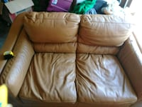 brown leather 3-seat sofa Yorkville, 60560