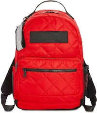 Steve Madden Austin Quilted Backpack (Red)
