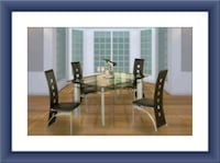 Glass dining table with 4 chairs McLean