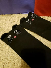 Black knee high cat socks Chandler, 85249