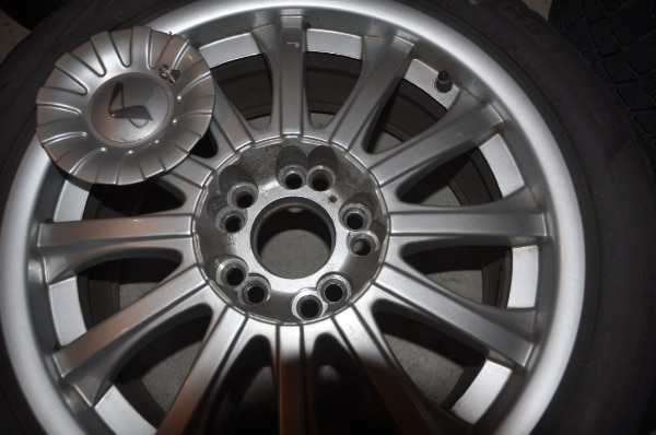 Price Reduced! - Now $250! - 4 Used Wheels with Bridgestone Blizzak Winter Tires WS80 - SIZE: 225/50R17 along with locking lug nuts to use with them 9e45ee33-2132-4959-96cb-2342afbe0589