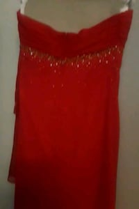 red and golden sequin spaghetti strap dress Garland, 75043