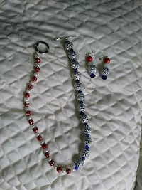 blue and red beaded necklace San Antonio, 78240