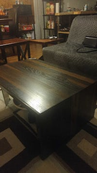 Ebonized white oak coffee table