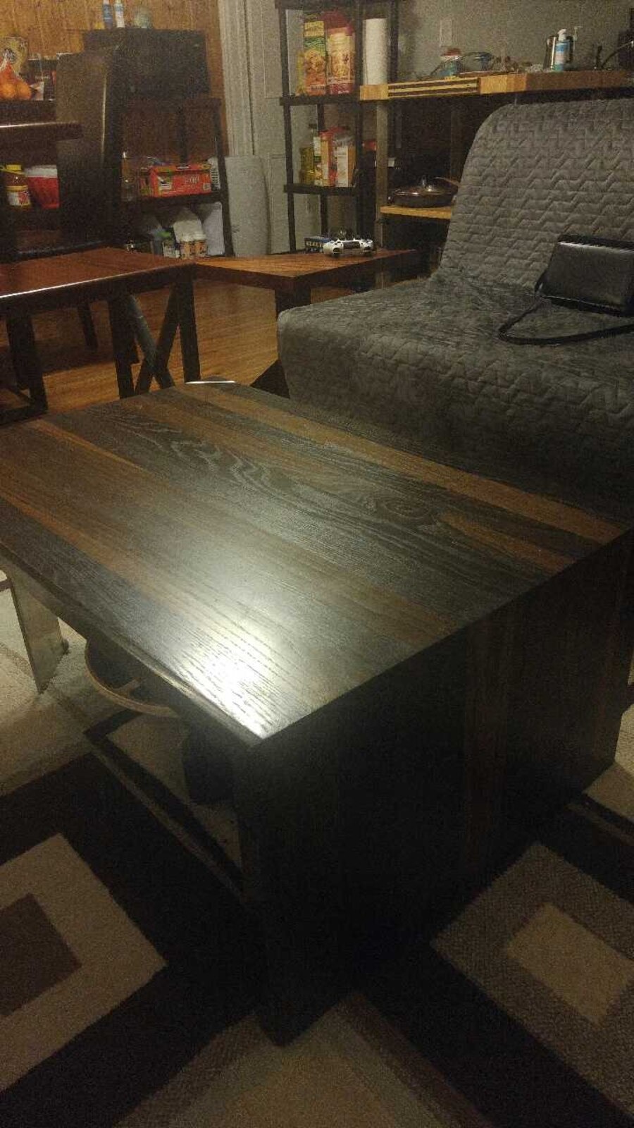 Ebonized white oak coffee table - Peterborough