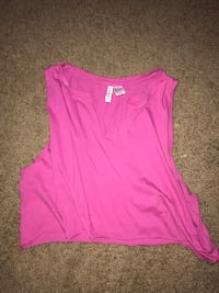 Magenta crop top from h&m size small