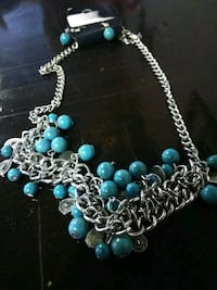 silver-colored and blue beaded necklace Amarillo, 79107