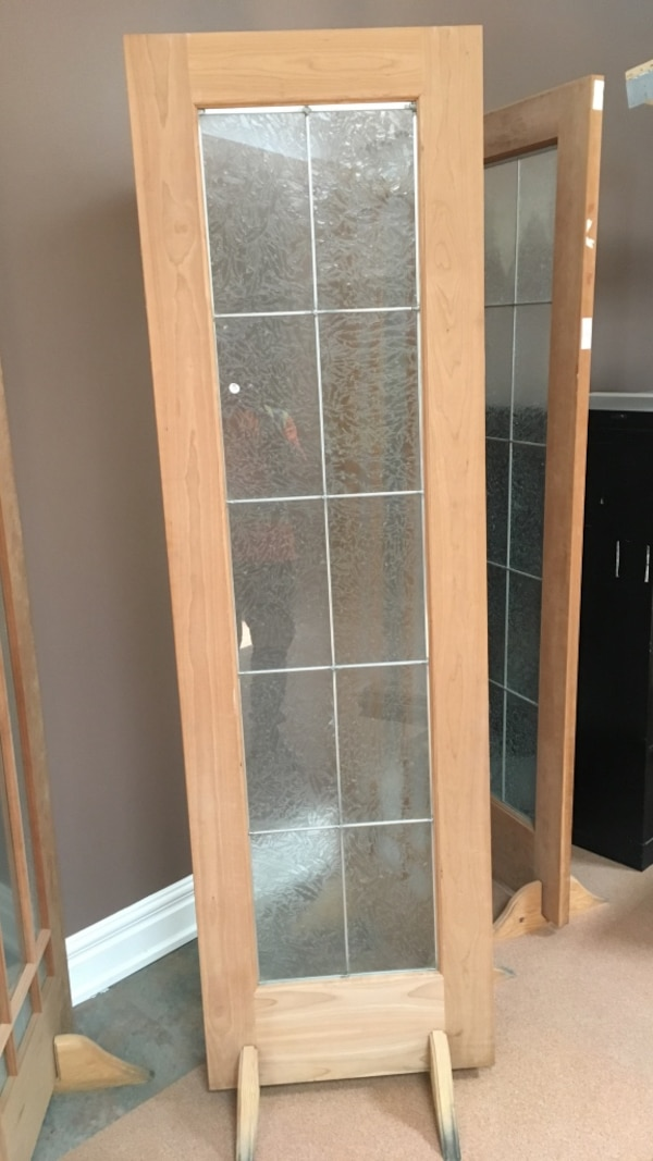 Used Brown Wooden Framed Glass Door For Sale In Calgary Letgo