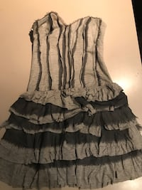 Grey strapless dress XS.  Toronto, M6K 0C1
