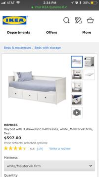 white wooden bed frame screenshot New York, 10128