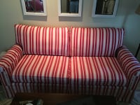 Red and white striped fabric loveseat Brookhaven, 30319