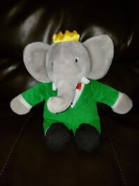 gray with green suit jacket and crown elephant plush toy Oshawa, L1J 2Z7