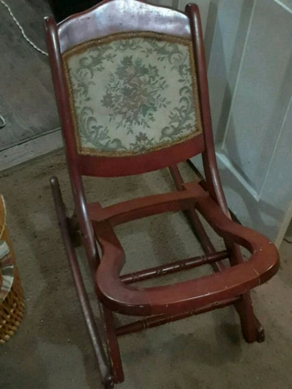 Used Antique Fold Up Rocking Chair For
