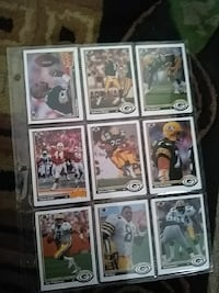 football player trading card collection