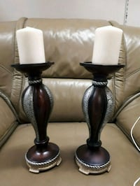 Pair of candle holders great condition  Cambridge