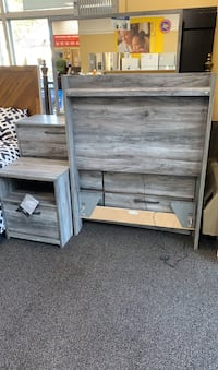 Bedroom set headboard with led lights end table and dresser New Haven, 06511
