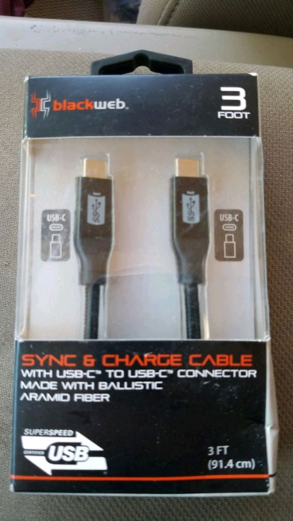 USB- TO USB-C sync and charge cable 0