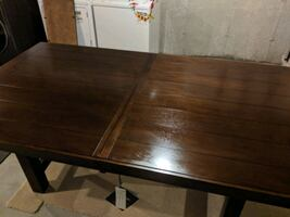 New pure wood dining table