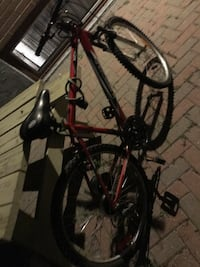 red and black hardtail mountain bike Toronto, M3M 2H1