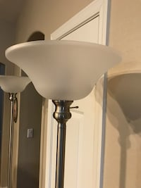 white and black torchiere lamp San Tan Valley, 85143