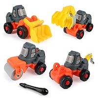 New in box 4-in-1 take apart construction vehicles