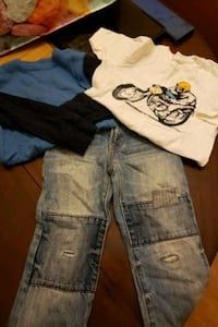 2 shirts & jeans