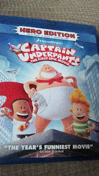 CAPTAIN UNDERPANTS HERO EDITION BLU-RAY& DVD MOVIE Duncansville, 16635