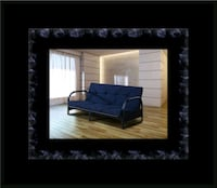 Black futon frame with mattress Washington, 20018