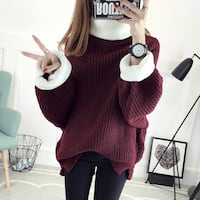 women's two colored sweater