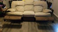 brown leather 3-seat recliner Austin, 78754