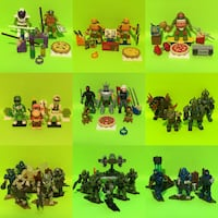 Mega Construx / Blox Lot Power Rangers Halo Ninja Turtles & WoW Port Perry