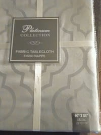 Silver grey tablecloth (new in packaging) New York